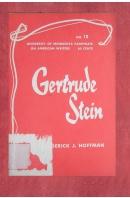 Pamphlets on American writer. Number 10. Gertrude Stein - HOFFMAN Frederick J.