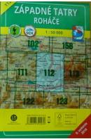 Západné Tatry. Roháče 1 : 50 000. Turistická a cyklistická mapa 112 - ...autoři různí/ bez autora
