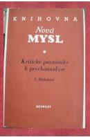 Kritické poznámky k psychoalanýze - MICHALOVÁ C.
