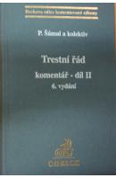 Trestní řád. Komentář II. díl (180 - 471) - ŠÁMAL Pavel