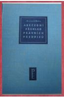 Abecední přehled právních předpisů platných k 1. lednu 1960 - BÖHM Antonín